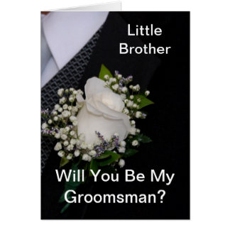 Will You Be My Groomsman Little Brother Card