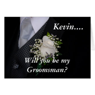 Will You Be My Groomsman Nephew Card