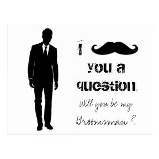 Will you be my groomsman postcard