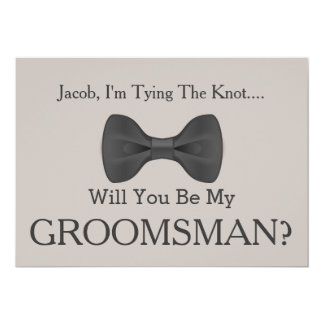 Will You Be my Groomsman with Grey Bow Card