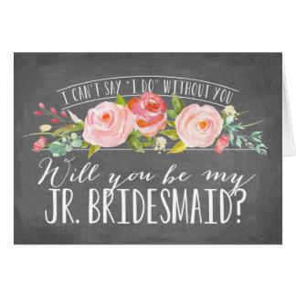 Will You Be My Junior Bridesmaid | Bridesmaid Note Card