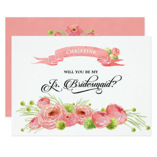 Will you be my Junior Bridesmaid?Custom Invitation