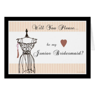 Will You be my Junior Bridesmaid - Mannequin Card