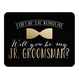 "Will you be my Junior Groomsman ? | Groomsmen 4.25"" X 5.5"" Invitation Card"