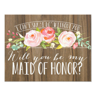 Will You Be My Maid of Honor   Bridesmaid Card