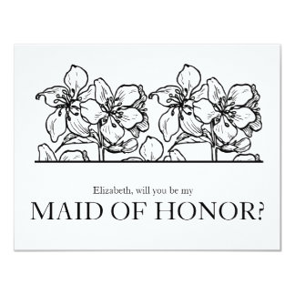 Will you Be my Maid of Honor Chic Vintage Card