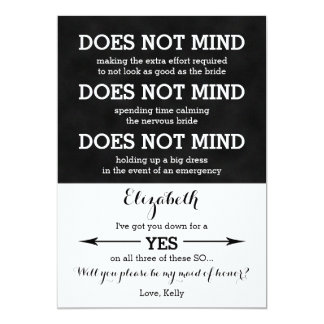 Will You Be My Maid of Honor Does Not Mind Card