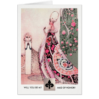 Will you be my Maid of Honor? Invitation Cards