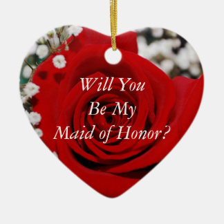 Will You Be My Maid Of Honor Ornament