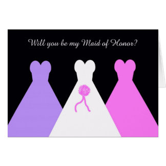 Will You Be My Maid of Honor Poem Card