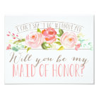 Will You Be My Maid of Honour | Bridesmaid Card