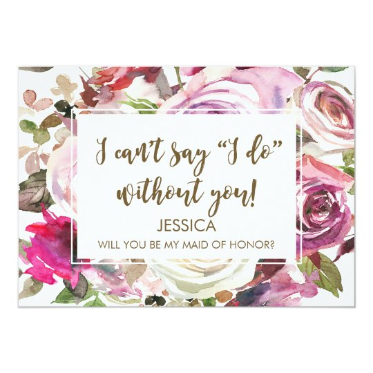 Will you be my maid of honour card personalized