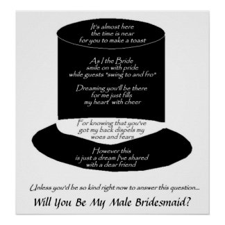 Will You Be My Male Bridesmaid - Customizable Print