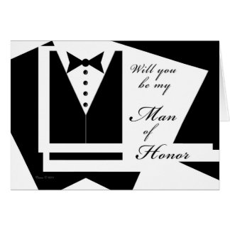 Will you be my Man of Honour Card