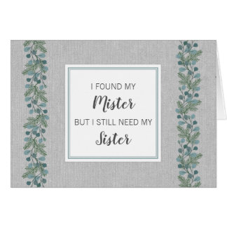 Will you be my Matron of Honor winter pine 4014 Card