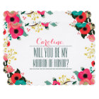 Will you be my Matron of Honour? Custom Card