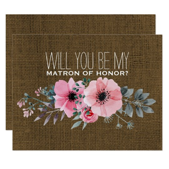 Will You Be My Matron of Honour | Matron of Honour Card