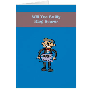Will You Be My Ring Bearer Card