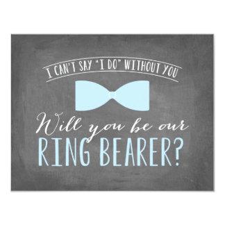 "Will you be my Ring Bearer ? | Groomsmen 4.25"" X 5.5"" Invitation Card"