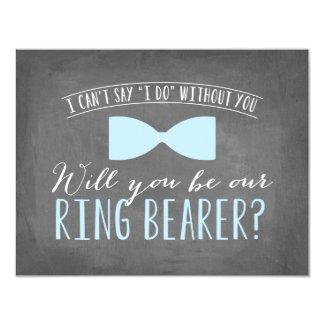 Will you be my Ring Bearer ? | Groomsmen Invitation