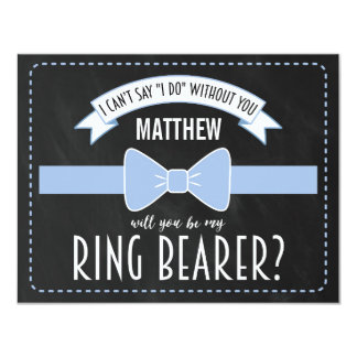 "WILL YOU BE MY RING BEARER? | RING BEARER 4.25"" X 5.5"" INVITATION CARD"