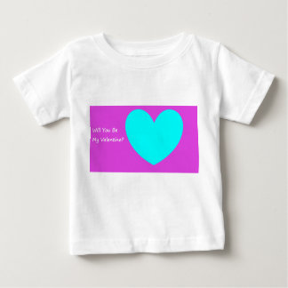 'Will You be My Valentine?' Baby T-Shirt