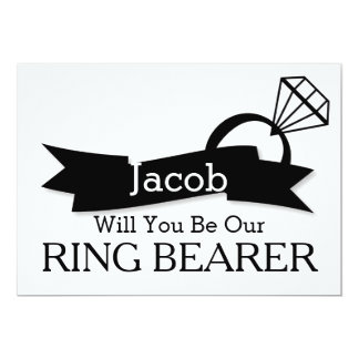"""Will You Be Our Ring Bearer 5"""" X 7"""" Invitation Card"""