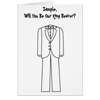 Will You Be Our Ring Bearer Greeting Card