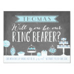 """Will You Be Our Ring Bearer   Groomsman 4.25"""" X 5.5"""" Invitation Card"""