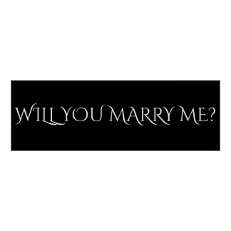 """WILL YOU MARRY ME? - 36""""x12"""" Banner Poster"""