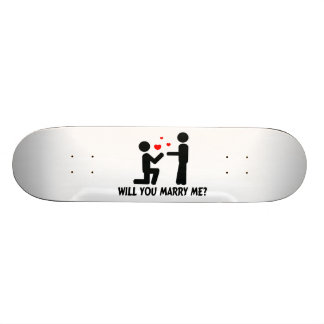 Will You Marry Me Bended Knee Man & Man Skate Deck