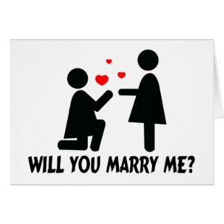 Will You Marry Me Bended Knee Woman & Woman Greeting Card