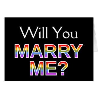 Will You MARRY ME? Card