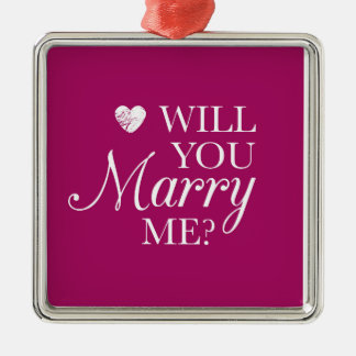 **WILL YOU MARRY ME** CHRISMAS PROPOSAL ORNAMENT
