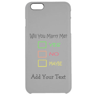 Will You Marry Me? Clear iPhone 6 Plus Case