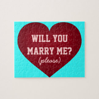 Will you marry me? crimson heart jigsaw puzzle