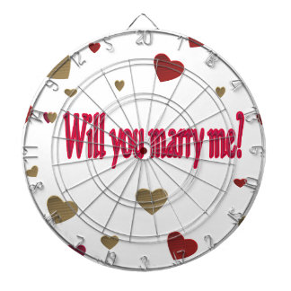 Will you marry me? dart board