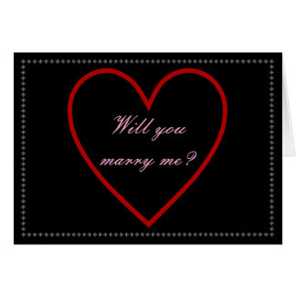 """""""Will you marry me?"""" + Heart Card"""