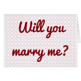 """Will you marry me?"" + Lots of Small Heart Shapes Card"