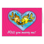 WILL YOU MARRY ME luck goldfish holding hands Card