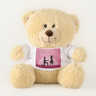 """""""Will you Marry Me?"""" Personalized Teddy Bear"""