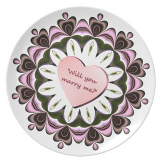 'Will you marry me' Plate