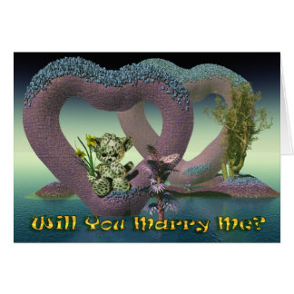 Will You Marry Me, proposal Card