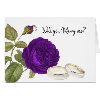 Will you Marry Me, Purple Rose Card