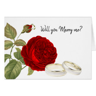 Will you Marry Me, Red Rose Card