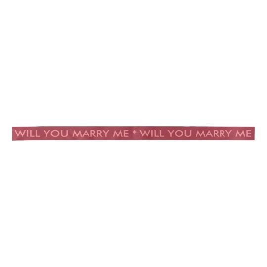 Will You Marry Me Ribbon Satin Ribbon
