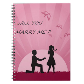 WILL YOU MARRY ME? SPIRAL NOTEBOOK