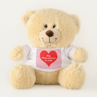 Will You Marry Me Teddy Bear Marriage Proposal