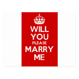 Will You Please Marry Me (Red) Postcard