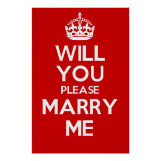 Will You Please Marry Me (Red) Poster
